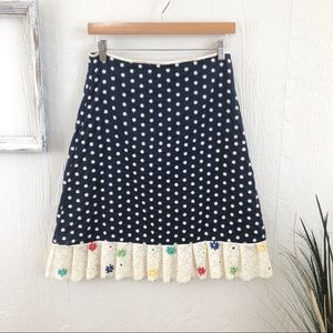Anthro Snak Embroidered Lace Floral Skirt